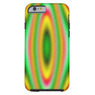 Teste padrão abstrato colorido capa tough para iPhone 6