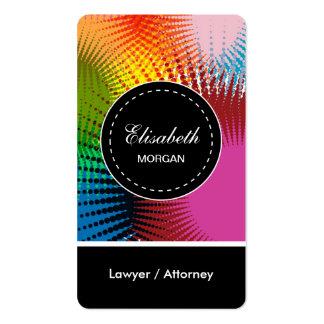 Teste padrão abstrato colorido do advogado/advogad cartão de visita