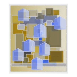 Teste padrão abstrato da arte contemporânea poster