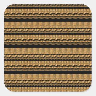 Teste padrão abstrato de Brown Adesivo Em Forma Quadrada