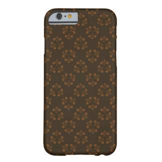 Teste padrão abstrato de Brown Capa Barely There Para iPhone 6