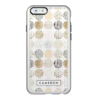 Teste padrão abstrato do círculo do ponto morto capa incipio feather® shine para iPhone 6