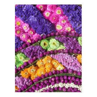 Teste padrão abstrato floral cartão postal