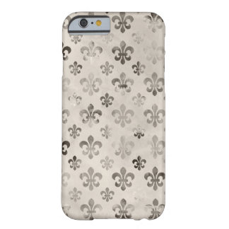 Teste padrão afligido na moda da flor de lis do capa barely there para iPhone 6