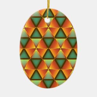Teste padrão alaranjado do diamante ornamento de cerâmica