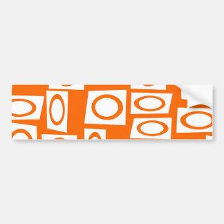Teste padrão alaranjado e branco do quadrado do cí adesivo para carro
