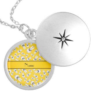 Teste padrão amarelo conhecido personalizado do ka bijuteria personalizada