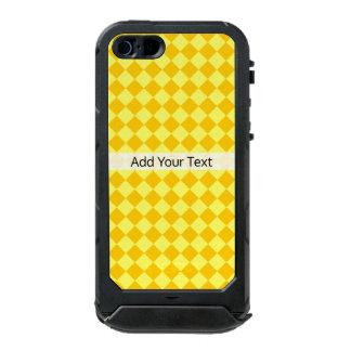 Teste padrão amarelo do diamante da combinação por capa à prova d'água para iPhone SE/5/5s