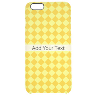Teste padrão amarelo do diamante da combinação por capa para iPhone 6 plus transparente