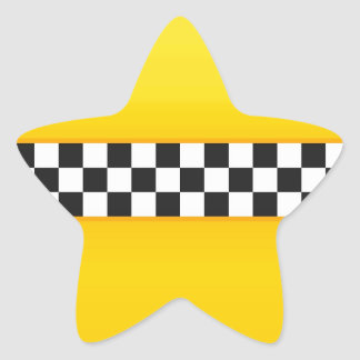 Teste padrão amarelo do tabuleiro de damas adesivos estrelas