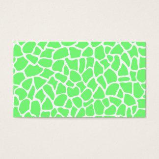 Teste padrão animal verde-claro do girafa do cartão de visitas