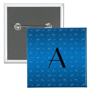 Teste padrão azul brilhante do bigode do monograma boton