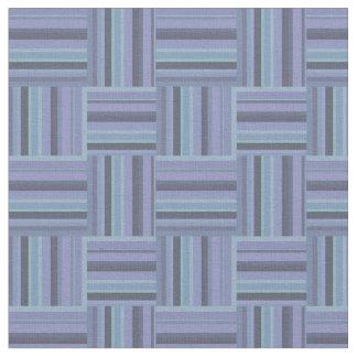teste padrão Azul-cinzento do weave das listras Tecido
