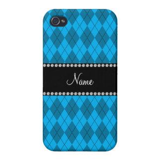 Teste padrão azul conhecido personalizado do argyl capas iPhone 4