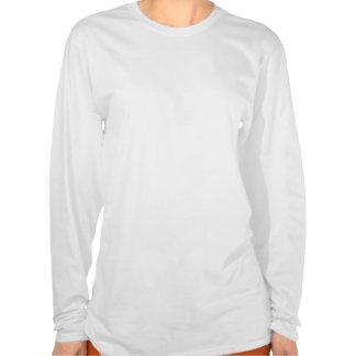Teste padrão azul conhecido personalizado do t-shirt