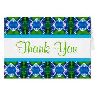Teste padrão azul da jóia cartão de nota