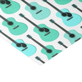 Teste padrão azul das guitarra acústicas papel de seda