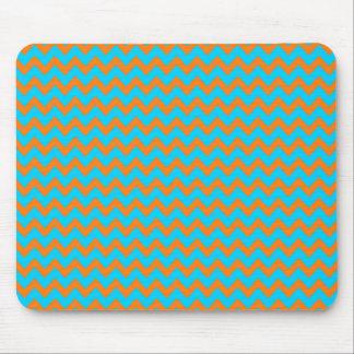 Teste padrão azul de Chevron da laranja e da cerce