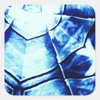 Teste padrão azul desvanecido adesivo quadrado