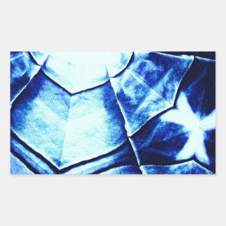 Teste padrão azul desvanecido adesivo retangular