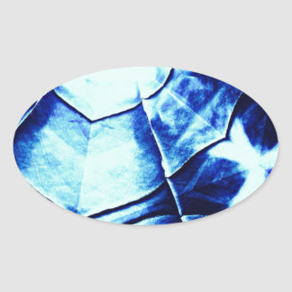 Teste padrão azul desvanecido adesivos ovais