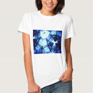Teste padrão azul desvanecido t-shirts