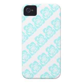 Teste padrão azul do selo do rosa verde do Aqua fe iPhone 4 Capa