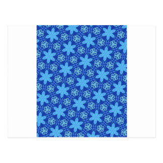 Teste padrão azul dos flocos de neve cartão postal
