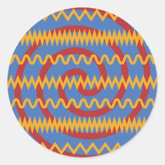 Teste padrão azul dos redemoinhos da laranja do adesivo