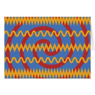 Teste padrão azul dos redemoinhos da laranja do cartão de nota