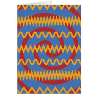 Teste padrão azul dos redemoinhos da laranja do cartão comemorativo