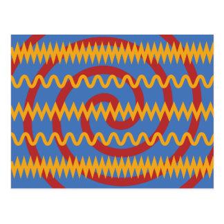 Teste padrão azul dos redemoinhos da laranja do cartão postal