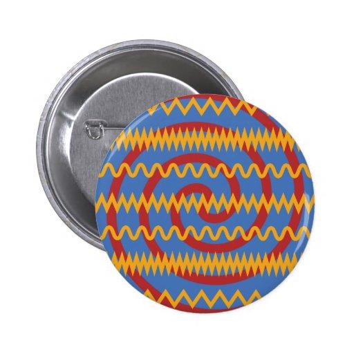 Teste padrão azul dos redemoinhos da laranja do di botons