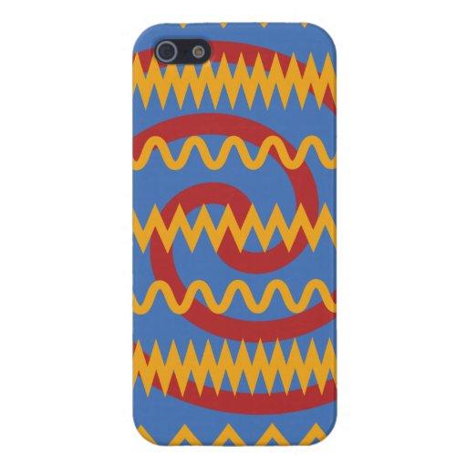 Teste padrão azul dos redemoinhos da laranja do di capa iPhone 5