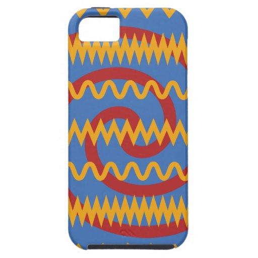 Teste padrão azul dos redemoinhos da laranja do di capas de iPhone 5 Case-Mate