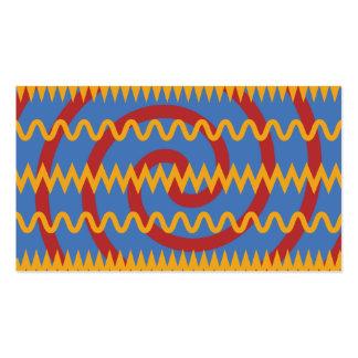 Teste padrão azul dos redemoinhos da laranja do di cartão de visita