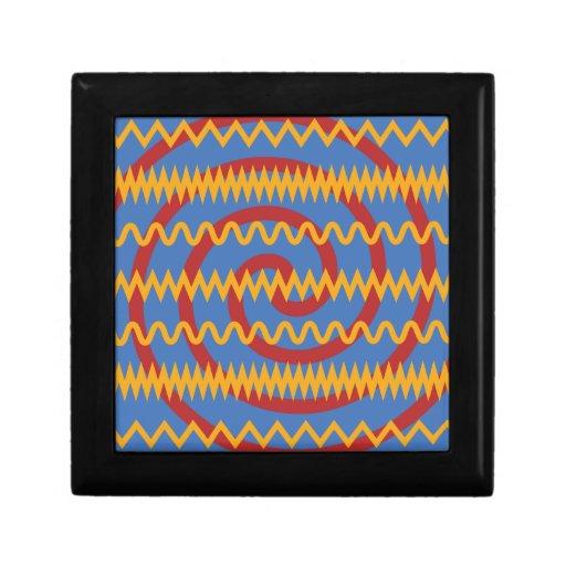 Teste padrão azul dos redemoinhos da laranja do di estojo para jóia
