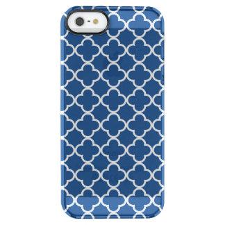 Teste padrão azul e branco clássico do marroquino capa para iPhone SE/5/5s clear