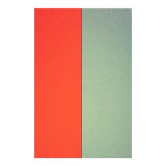Teste padrão bicolor alaranjado verde do vintage modelo de panfletos