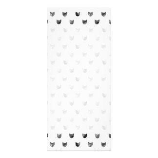 Teste padrão bonito chique preto e branco do gato 10.16 x 22.86cm panfleto