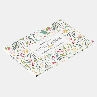 Teste padrão bonito colorido das flores & das livro de visitas