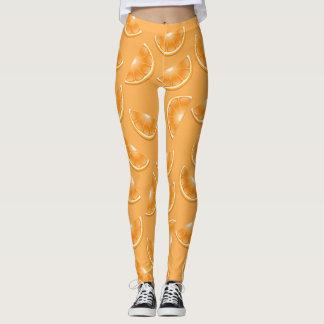 teste padrão bonito da laranja dos desenhos legging