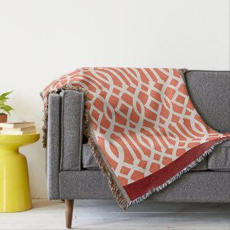 Teste padrão bonito do abstrato da laranja throw blanket