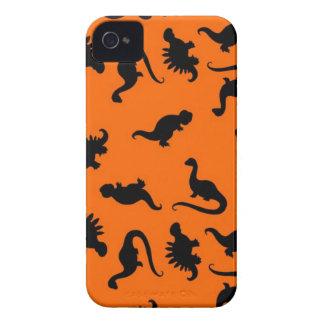 Teste padrão bonito do dinossauro na laranja capinhas iPhone 4