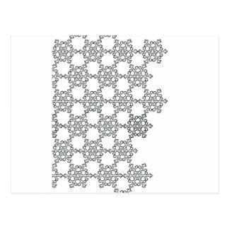 Teste padrão bonito do floco de neve cartão postal