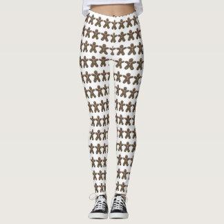 Teste padrão bonito dos homens de pão-de-espécie leggings
