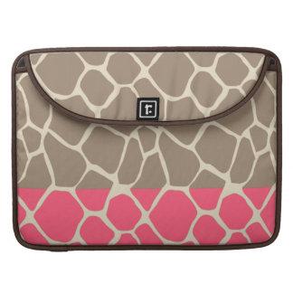 Teste padrão bonito feminino adorável alegre do bolsas MacBook pro
