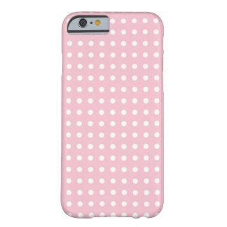 Teste padrão bonito feminino do ponto cor-de-rosa capa barely there para iPhone 6