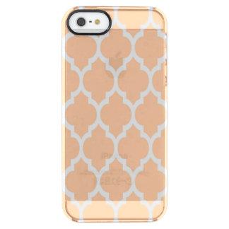 Teste padrão branco #4 de Quatrefoil do marroquino Capa Para iPhone SE/5/5s Clear