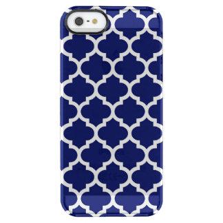 Teste padrão branco #5 de Quatrefoil do marroquino Capa Para iPhone SE/5/5s Clear